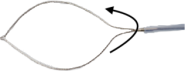 Disposable Rotatable Oval Snare - 1.8mm Dia. X 1000mm